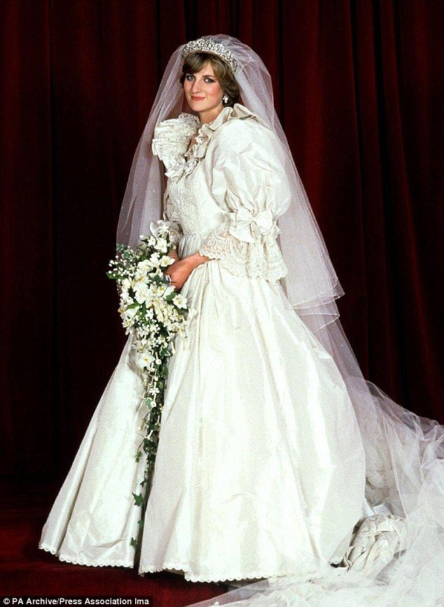 Fairytale: The outfit worn by Lady Diana Spencer at her nuptials to Prince Charles in 1981...