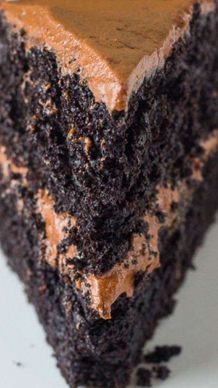 Death-By-Chocolate Layered Cake ~ The most chocolatey and moist cake ever!