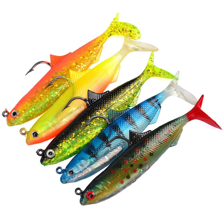 Vissen Floating Jig Wobblers Rubber Silicon Lure 10cm/21g 5pcs Fishing Lures Sea Fishing Tackle Soft Bait Lead Fish #Affiliate