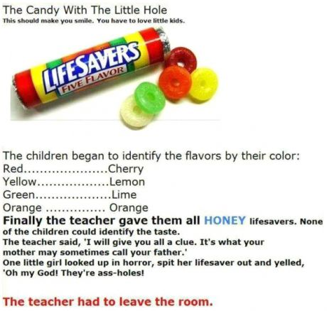THE CANDY WITH THE LITTLE HOLE