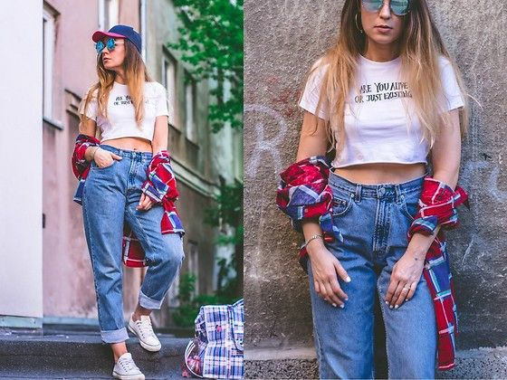 Get this look: http://lb.nu/look/8728809  More looks by Iwona: http://lb.nu/user/5765993-Iwona  Items in this look:  Tommy Hilfiger Jeans, Next Sneakers, Vintage Skirt   #casual #street #vintage #jeans #tommyhilfiger #tommygirl #look #streetstyle #90s