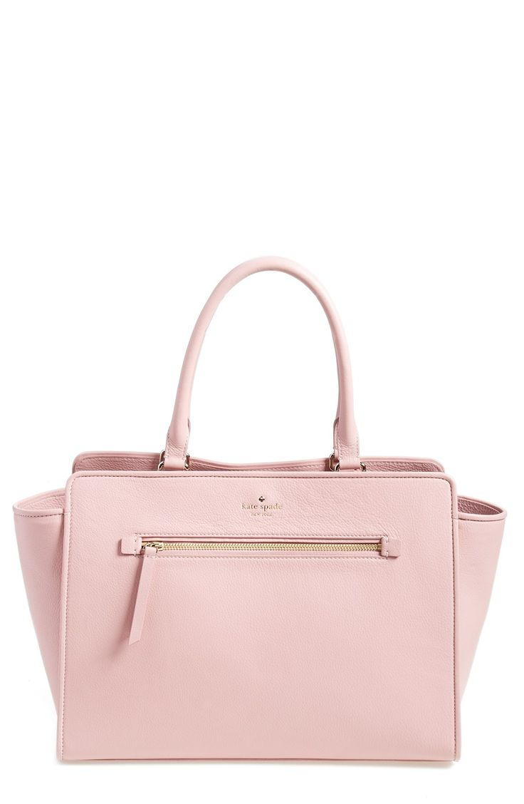 The romantic blush hue of this elegant Kate Spade satchel is lovely.
