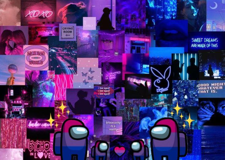 among us laptop purple aesthetic purple aesthetic