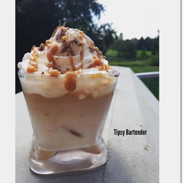 Check out the Caramilk White Russian! This creamy delight topped with whipped cream and caramel is sure to please any crowd! For the recipe, visit us here: http://www.tipsybartender.com/blog/2015/8/20/caramilk-white-russian