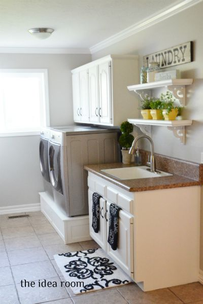 Would like pedastals...Open Shelves, Ideas Room, Diy Tutorials, Room Ideas, Laundry Rooms, Room Updates, Amy Huntley, Laundry Room Makeovers, Laundryroom