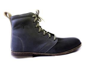 100% handmade leather men's shoes High-top - Galaxy Grey colour  SIXKINGS Viking range