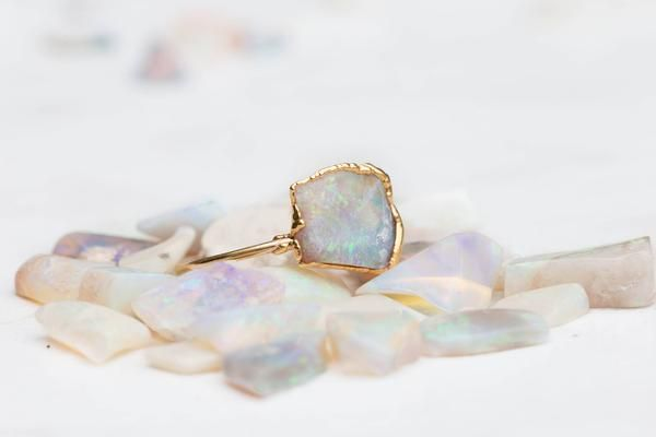 Opal Gift Ring | Pastel Ring | Unicorn Ring | Opal Engagement Ring | Blue Opal Ring | Bohemian Jewelry | Pastel Goth Ring | Opal Ring Sale