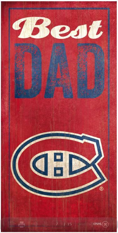 NHL - Best Dad - Montreal Canadiens Wooden Sign
