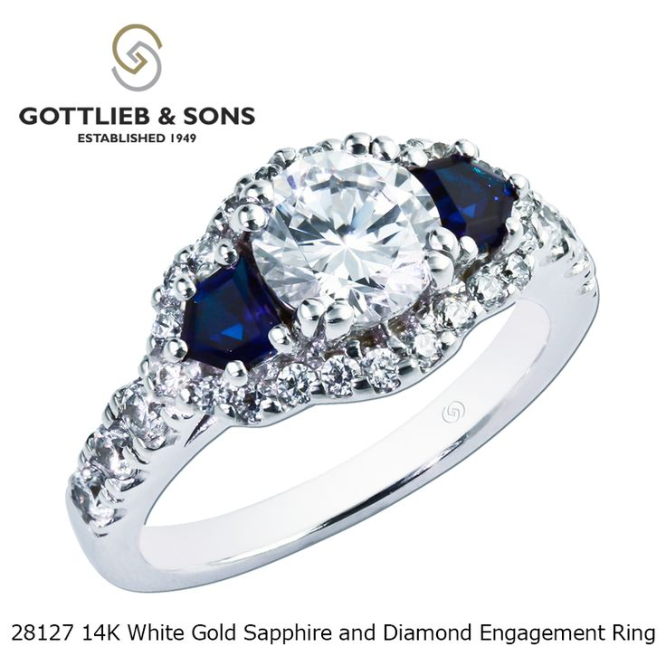 Just SayYes To This Magnificent Diamond And Sapphire Engagement Ring Impressive