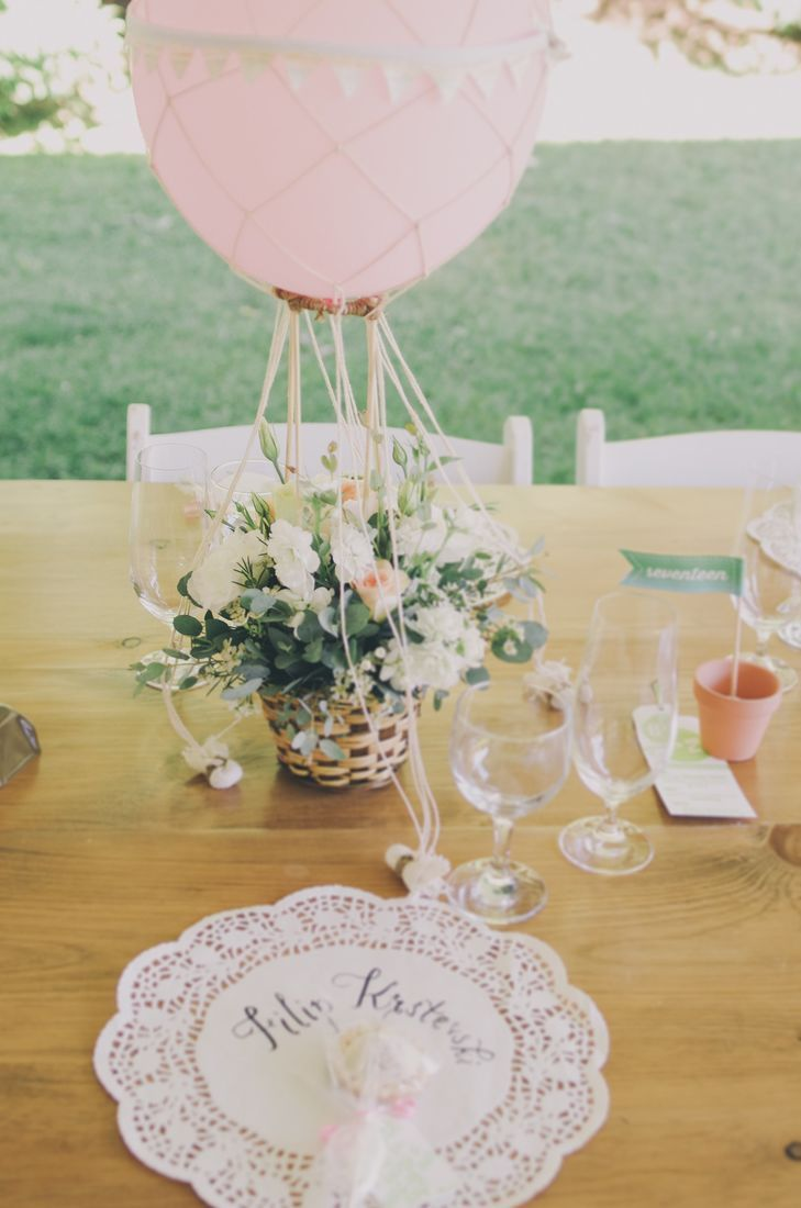 Diy wedding decorations vintage october 2018 The hot air balloon inspired centerpieces were one of the brideus