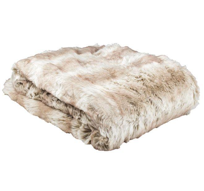 Bambury Faux Fur 130x150cm Throw Rug Angorra   <3