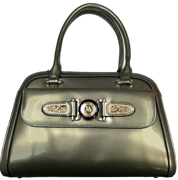 $89.99 - Brangio Italy Premium Leather Embellished Handbag #Brangio #Leather #Fashion #Handbag
