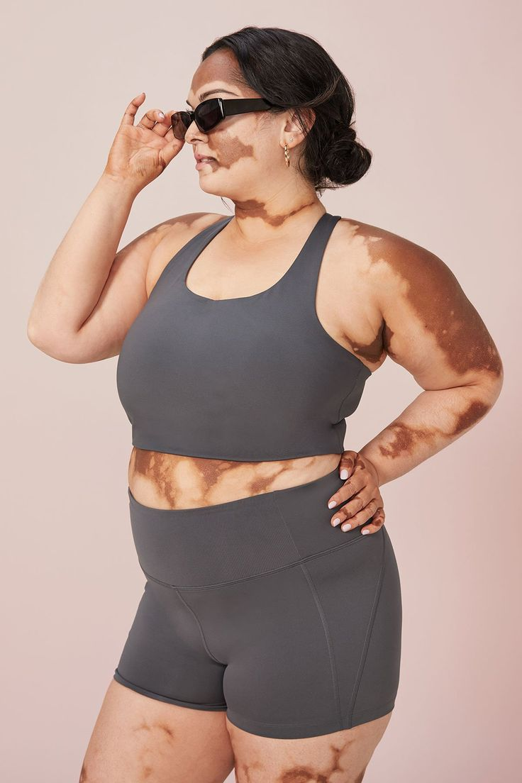 Girlfriend Collective Paloma Bra in Shadow · Whimsy & Row · Sustainable Clothing & Lifestyle Brand Gym Gear, Sustainable Clothing, Bra Tops, Aesthetic Clothes, Girlfriends, Scoop Neck, Smoke, Women, Collections