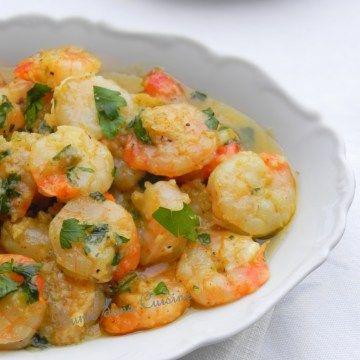Linguines aux crevettes, ail, citron et persil