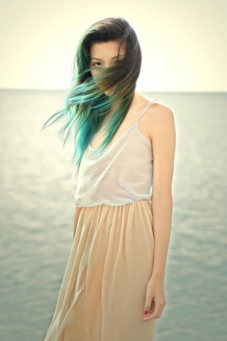 Pretty forest green ombre, the colour is nice, but I reckon the light blue/grey is better.
