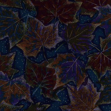 Robert Kaufman Fabrics: ESM-5158-5 MIDNIGHT from Nature's Brilliance