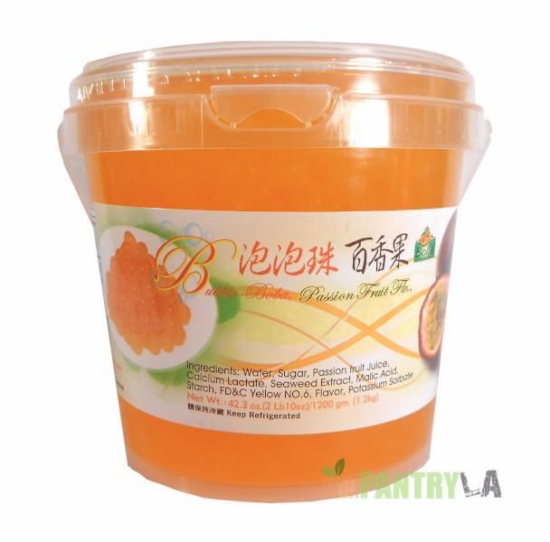 Bolle PASSION FRUIT Popping Boba Pearls 2 lbs. 10 oz.