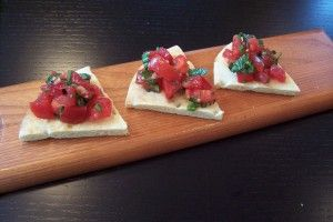 Bruschetta with Tomatoes, Basil and Garlic