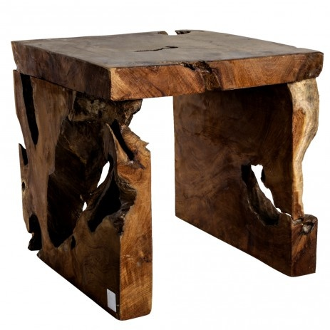 Handmade:Taburet, dark wood/rustique