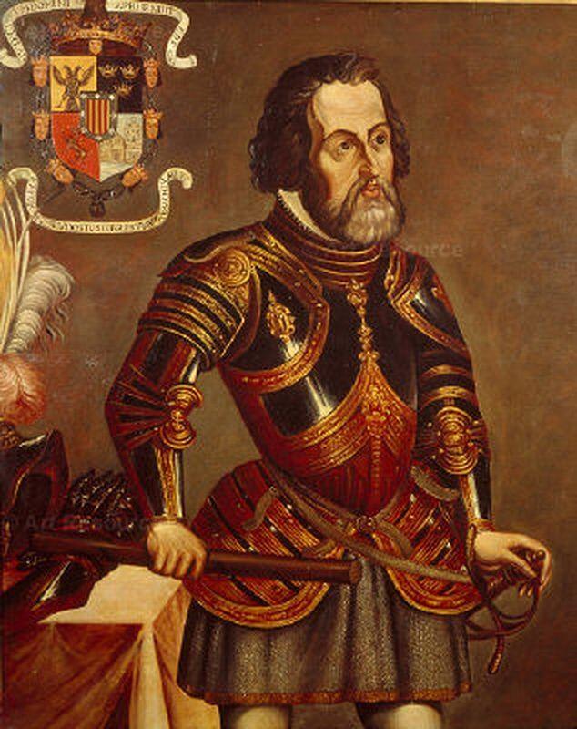 Hernán Cortés is een bekende conquistador. Hij is bekend geworden door zijn reizen in het huidige Mexico. In twee jaar heeft hij de hele Azteekse rijk vernietigd. Hij leefde in 1485 tot 1547. Conquistador: Spaanse veroveraars die gebieden veroveren in Noord- en Zuid-Amerika ( de Nieuwe wereld)