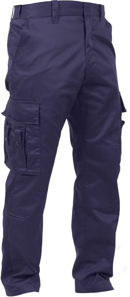 Navy Blue Deluxe Cargo EMT EMS Paramedic Uniform Work FLEX FIT Pants 16  Pockets  Rothco  Cargo 05cce67b271