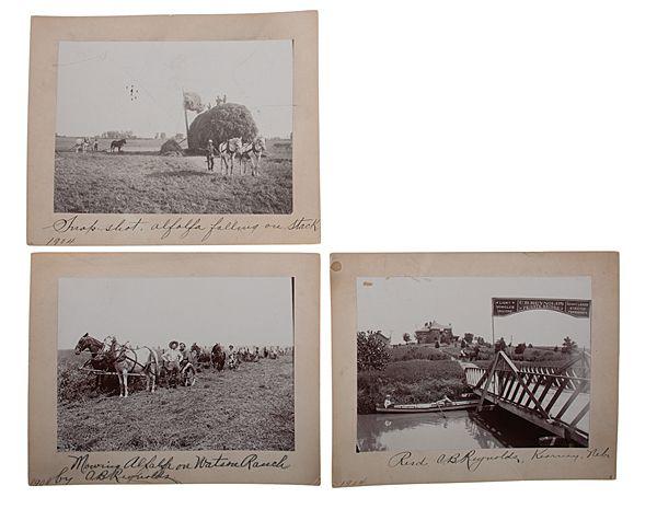 Solomon D. Butcher Photographs of Watson Ranch, C.B. Reynolds' Alfalfa Farm, Kearney, Nebraska, 1904
