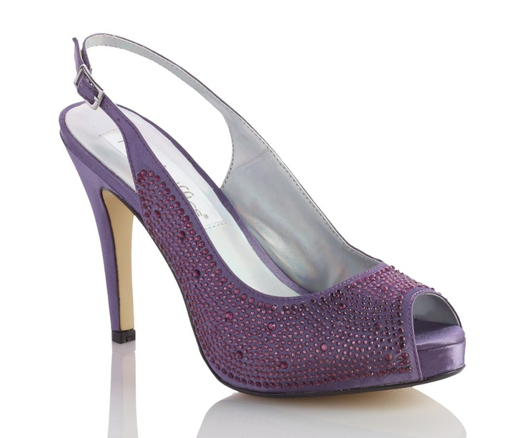 Gorgeous Satin Platform Purple Wedding Shoe 93