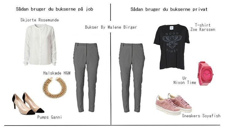 Sådan bruger du dit jobtøj privat - og gør din garderobe fleksibel.   En garderobe, der er opbygget efter en stram dresscode på jobbet, k...