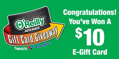 O'Reilly Auto Parts Gift Card Instant Win. 17,535 winners!  I just won. :)  ENTER HERE>> https://www.freebiequeen13.net/oreilly-auto-parts-gift-card-instant-win.html