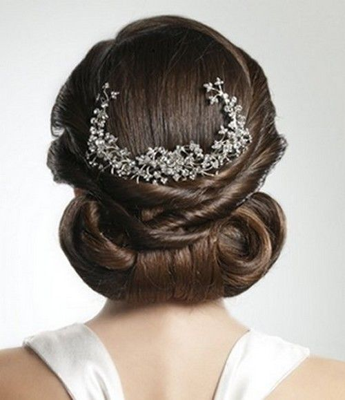 Updo that's not too flat on the sides.