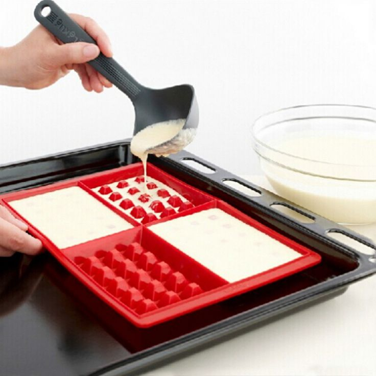 Пищевой безопасности силикона 4 Cavity вафли вафли торт шоколад пан DIY выпечки плесень выпечки инструменты купить на AliExpress