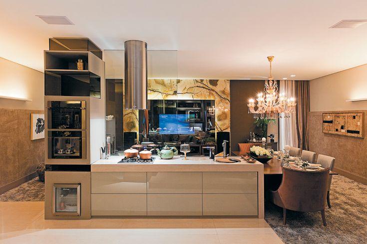 Oito cozinhas gourmet com espaços funcionais e cores sóbrias - Casa.com.br