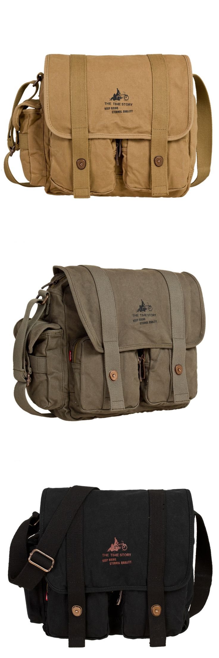 38$ * High quality canvas Men's Vintage Canvas Shoulder Messenger Hiking Tool Bag Satchel #canvas #hiking #tool #bag #shoulder