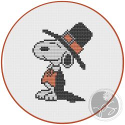 Snoopy Thanksgiving cross stitch pattern