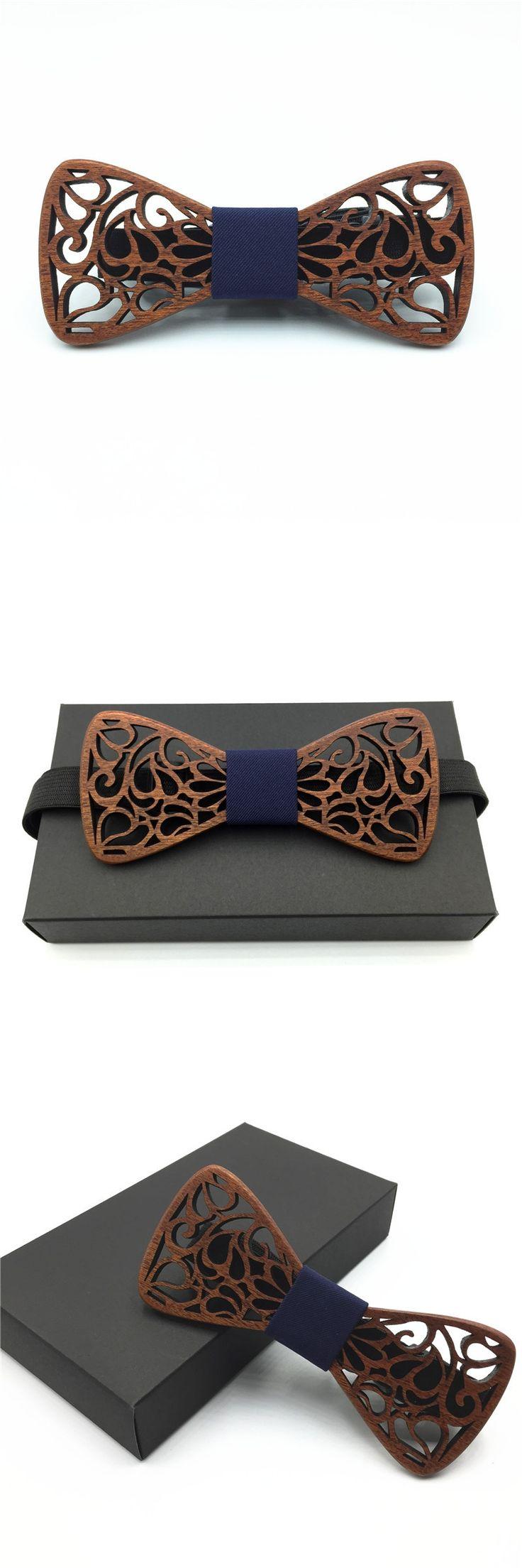 fake collar Wood Bow Tie Mens Wooden Bow Ties Gravatas Corbatas Business Butterfly Cravat Party Ties For Men Wood Ties
