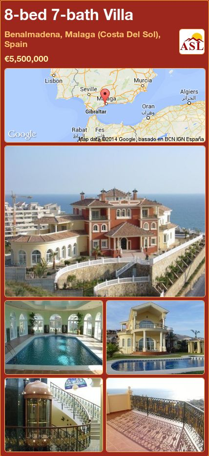 8-bed 7-bath Villa in Benalmadena, Malaga (Costa Del Sol), Spain ►€5,500,000 #PropertyForSaleInSpain