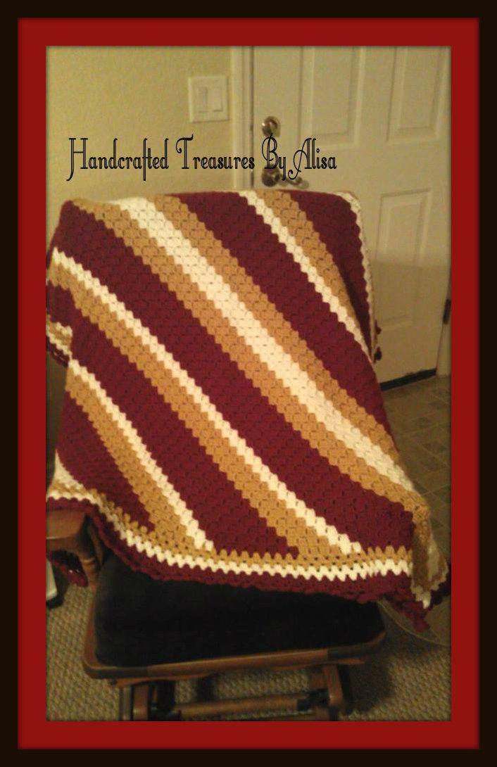 Florida State Seminoles Crochet Afghan Finished Crochet