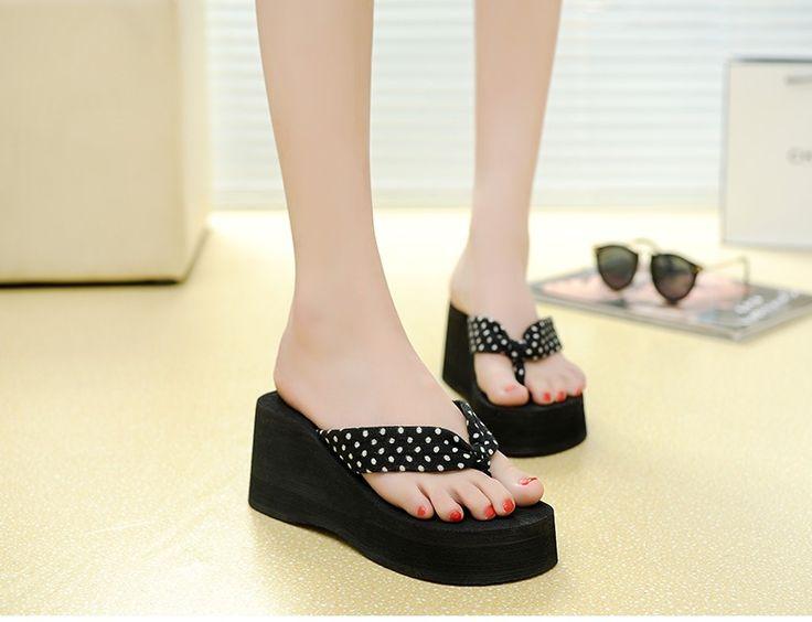 Sandales pour Femmes Soft Base Fashion Beads Tongs Sandals Sandals, 35, Noir