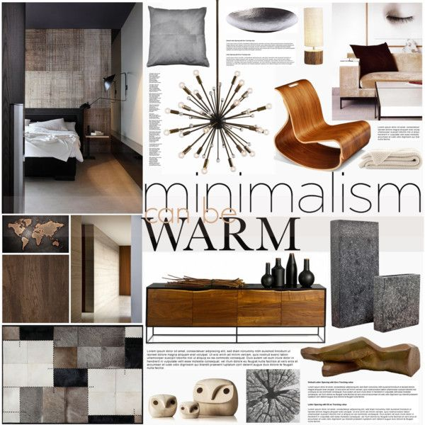 Warm Minimalism Set 2 by szaboesz on Polyvore featuring interior, interiors, interior design, home, home decor, interior decorating, Arteriors, Menu, iglooplay and Thibaut