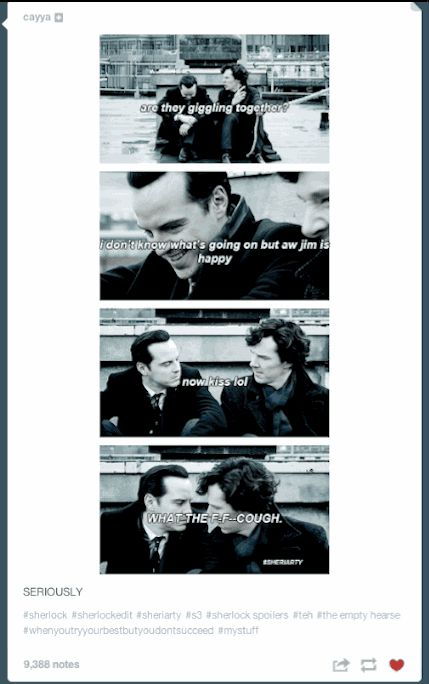 "And MORIARTY AND SHERLOCK KISSING. | Tumblr Reacts To The ""Sherlock"" Season 3 Premiere"