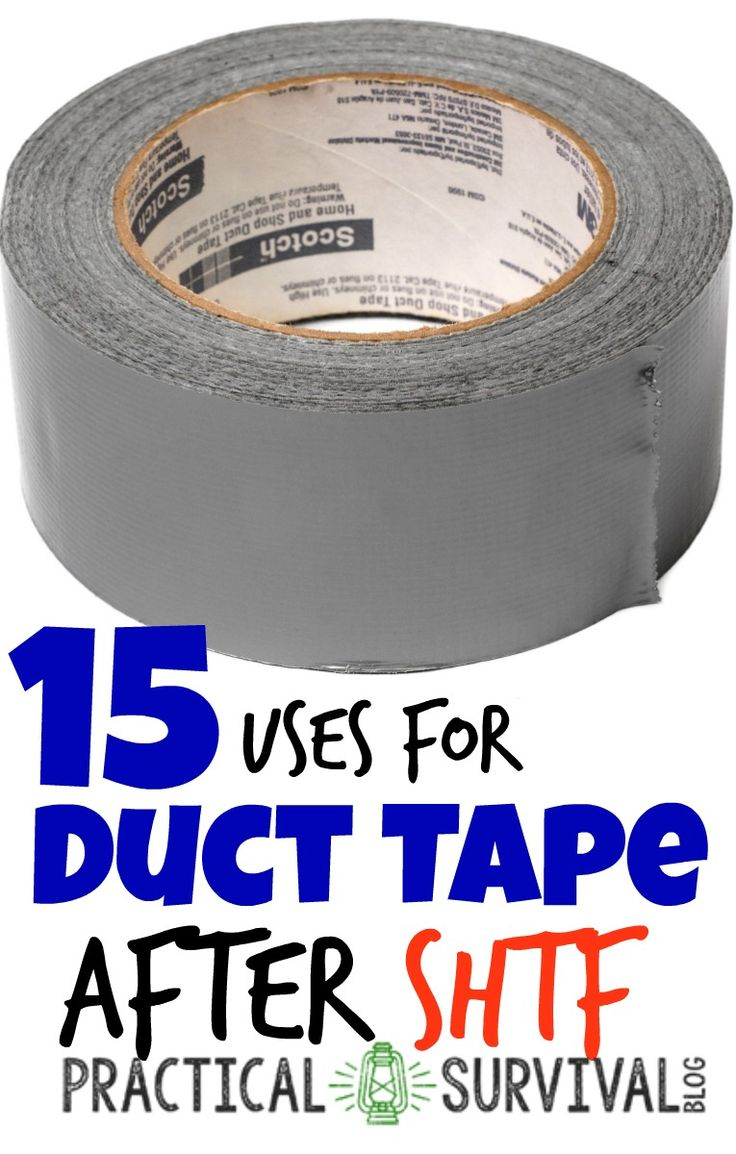 15 ways to use duct tape after shtf.  Some interesting ways that I never would have thought of