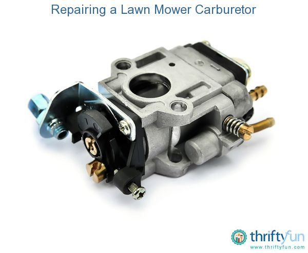 This is a guide about repairing a lawn mower carburetor. A common cause of a lawn mower not starting lies with the carburetor.