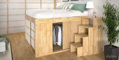 Bett - Impero / Futonbett / Massivholzbetten / massivholzbetten / Holzbetten / futonbetten / Japanische Bett / Holzbetten Design letto_giapponese_legno_impero_big