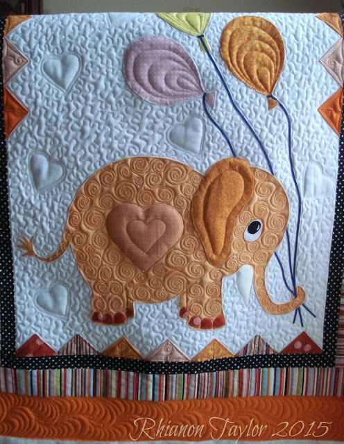 Hi there  This is my latest finish.  a baby quilt commissioned by my sister for a friend of ours Sharon who became a Grandma( to Penelope) f...