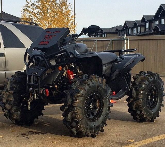 Lifted can am atv