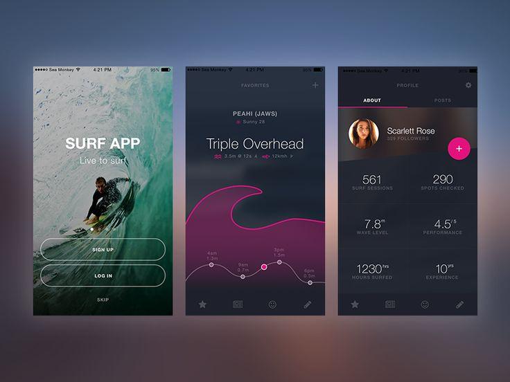 Surf App Mock Up by Ken Liew