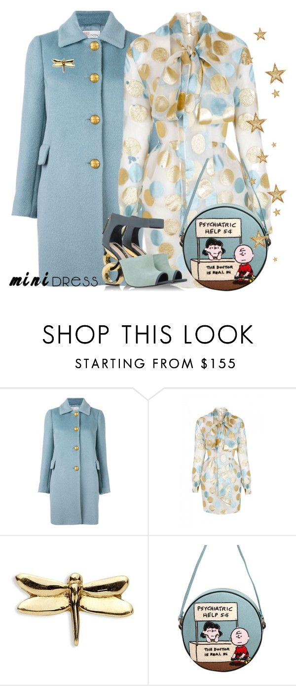 """Psychiatric help Needed"" by ellenfischerbeauty ❤ liked on Polyvore featuring RED Valentino, The 2nd Skin Co., Loquet, Olympia Le-Tan and Kat Maconie"