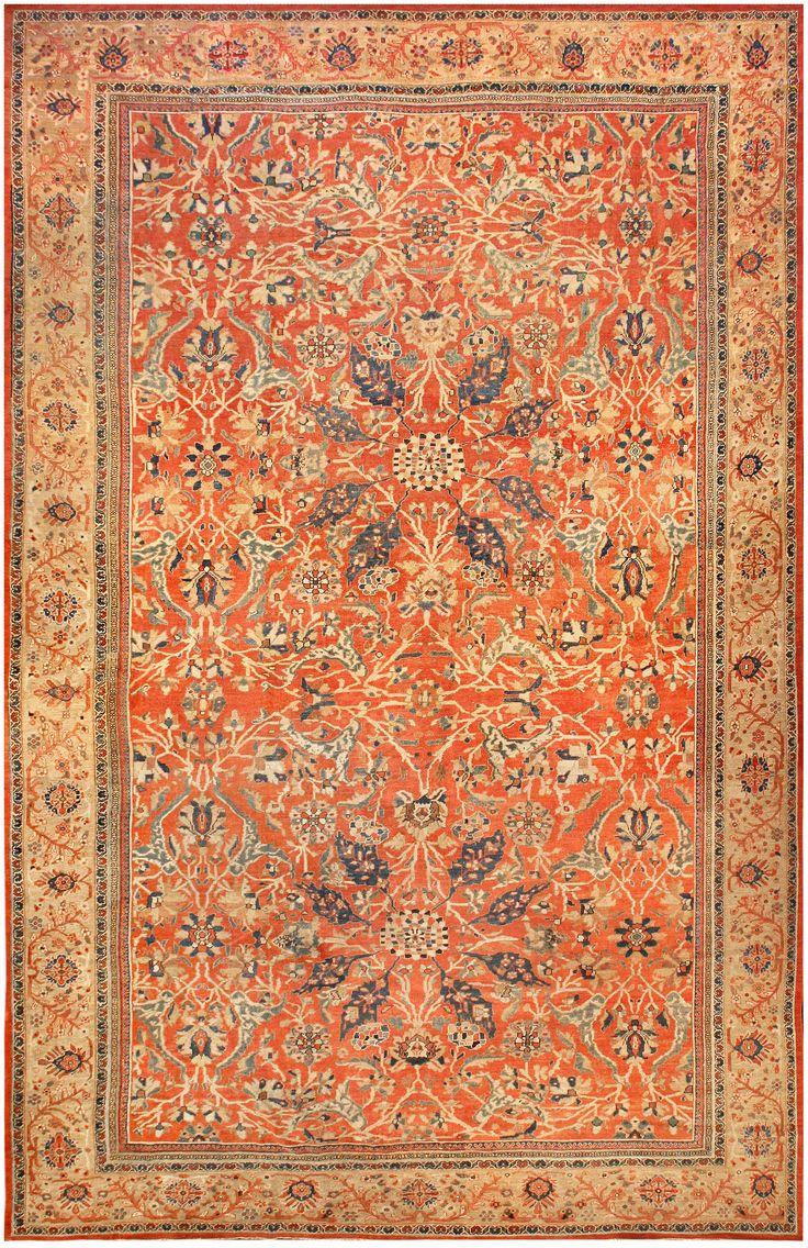 Antique Persian Sultanabad Rug Bb3555 By Doris Leslie Blau