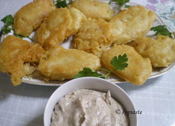 """Battered Bakaliaros (salted cod), in Greek """"μπακαλιάρος"""", is the traditional food we eat in Greece on the 25th of March."""