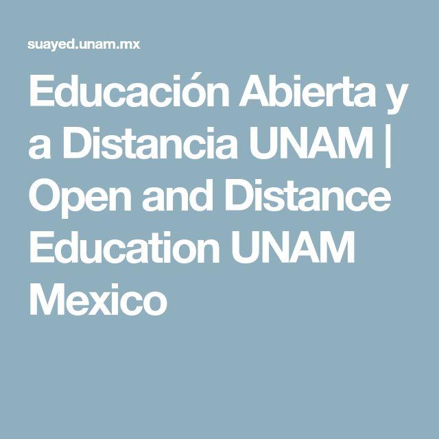 Educación Abierta y a Distancia UNAM | Open and Distance Education UNAM Mexico